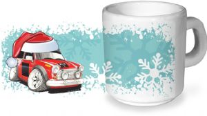 Koolart Christmas Santa Hat Design For Classic Mini Works - Ceramic Tea Or Coffee Mug
